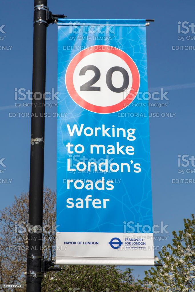Making the Roads in London Safer stock photo
