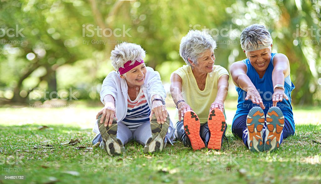 Making their retirement a healthy one stock photo