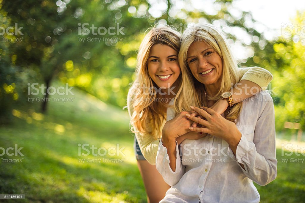 Making time for family stock photo