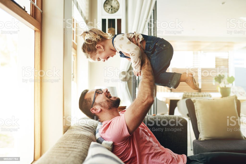 Making time for the most important girl in the world royalty-free stock photo