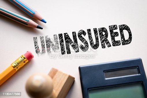istock Making uninsured in to insured by eraser 1130477566