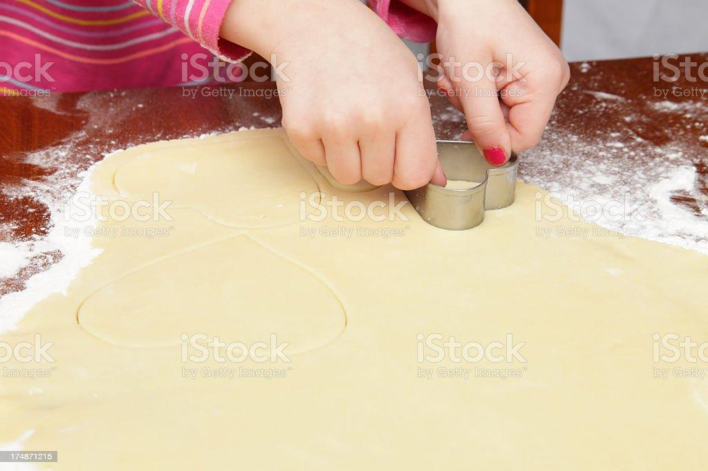 Making Valentine's Cookies stock photo