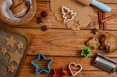 各種クッキー作りのクリスマス