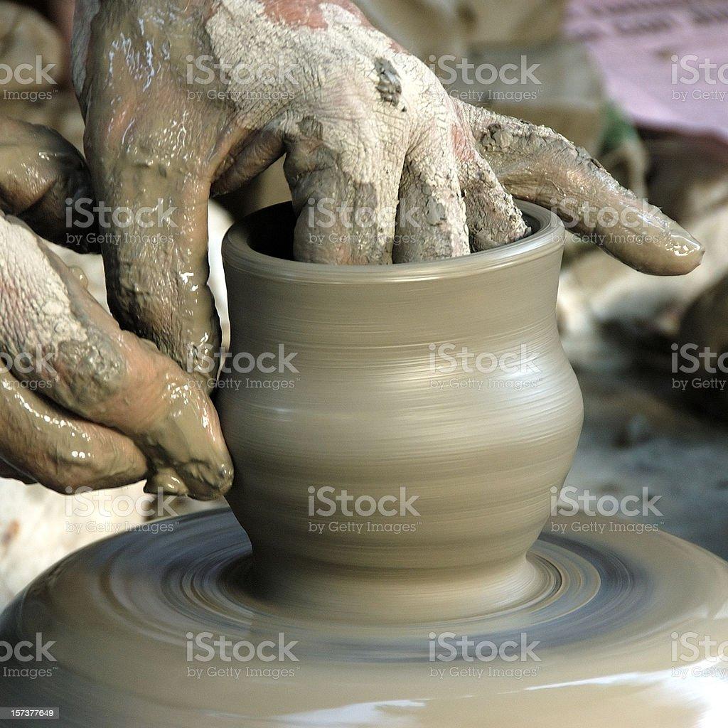 Making vase stock photo