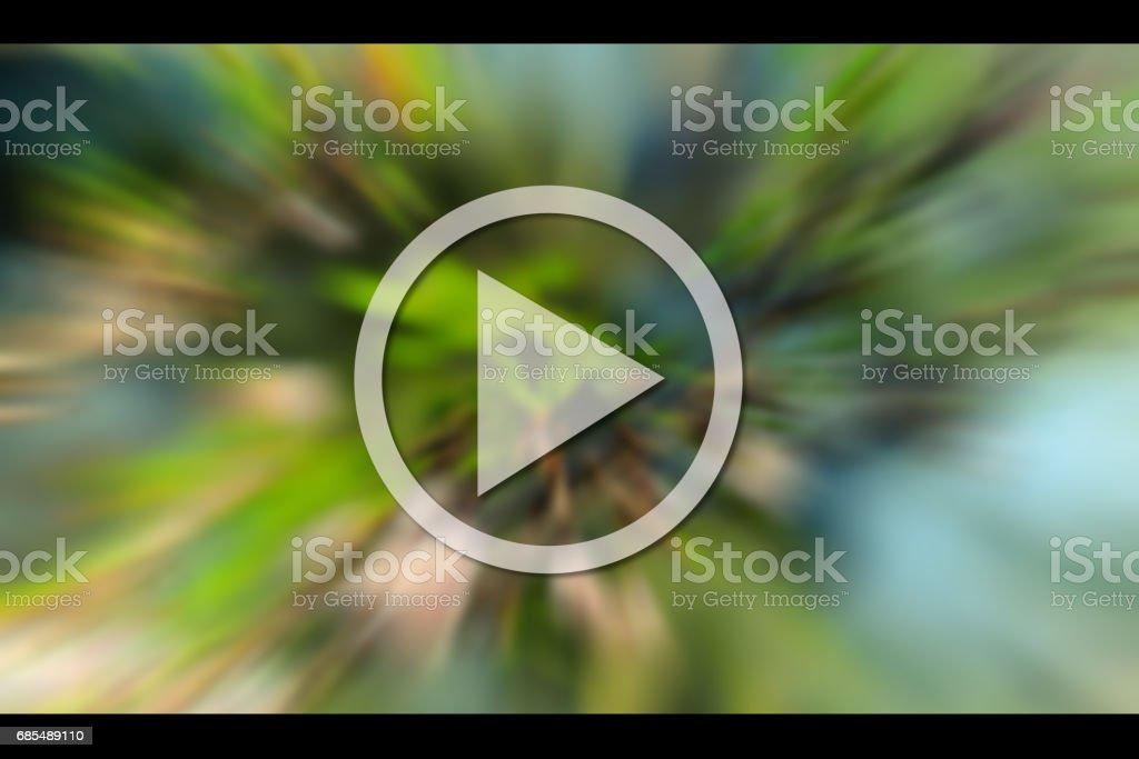 Hacer ilustración concepto video con fondo brurred. - foto de stock