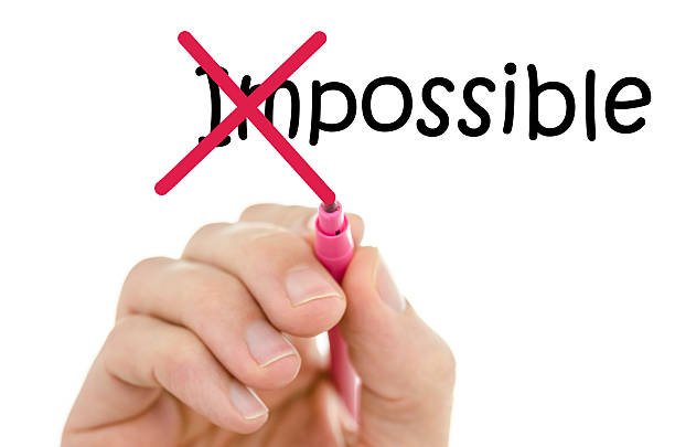 making word impossible possible - possible stock photos and pictures