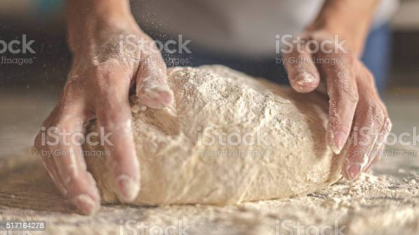 Kneading yeast dough