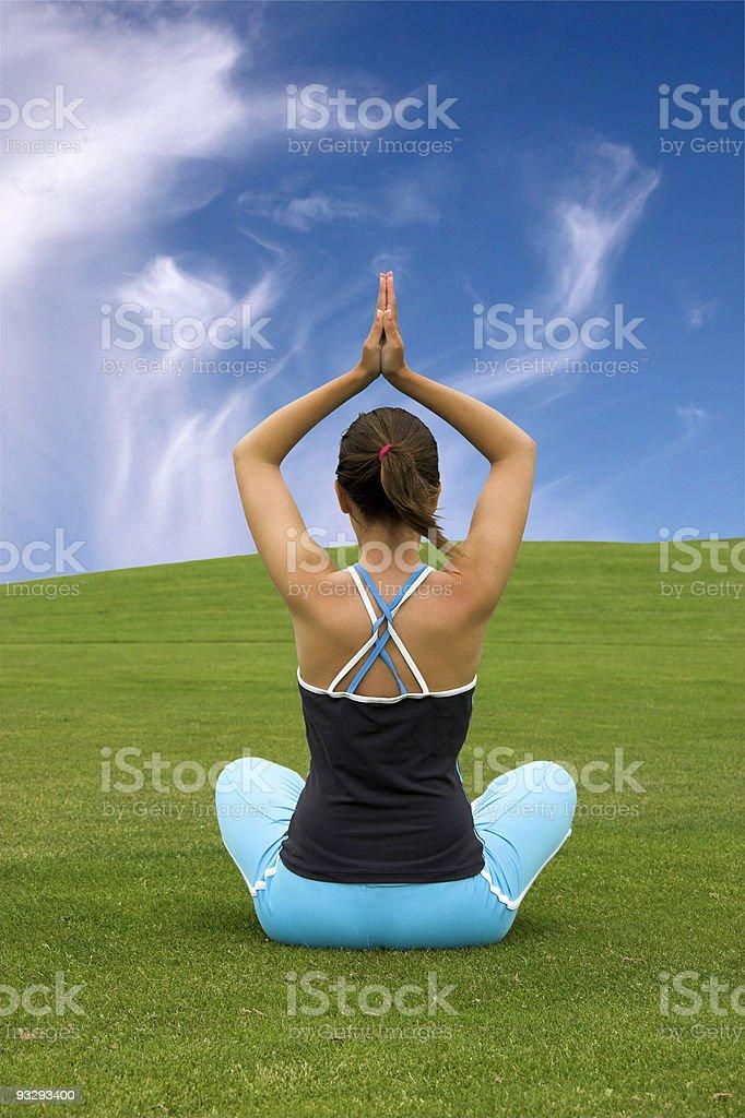 Making Yoga royalty-free stock photo