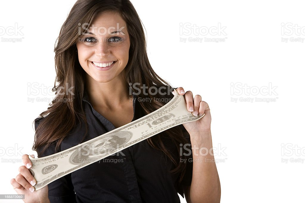 Making your money stretch stock photo