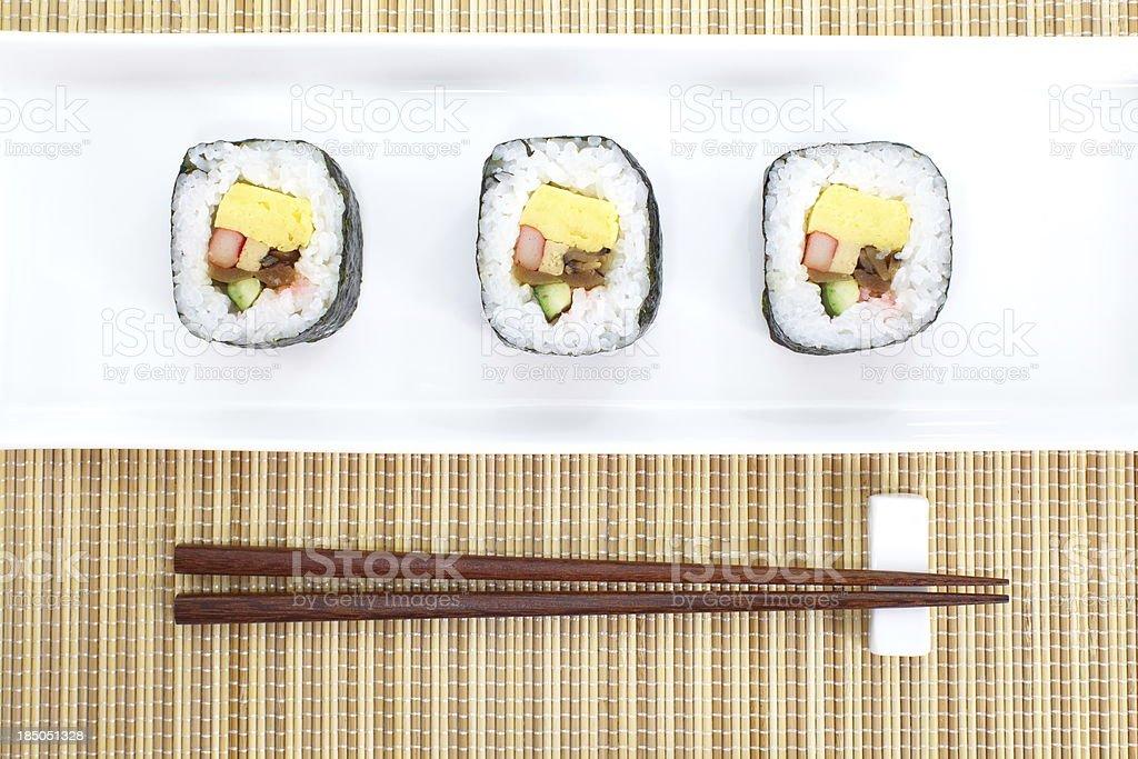Makizushi Delicious sushi rolls royalty-free stock photo