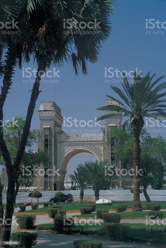 Makkah Gate, Jeddah, Saudi Arabia stock photo
