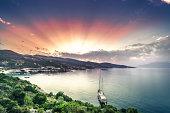 Makris Gialos bay at sunny dawn.Zakynthos, Greece