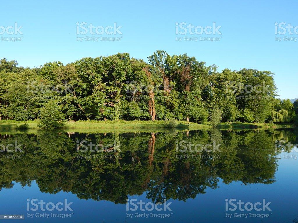 Maksimir - fifth lake stock photo