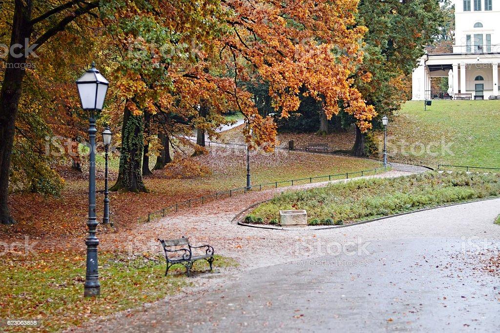 Maksimir on the rainy day, Zagreb, Croatia stock photo