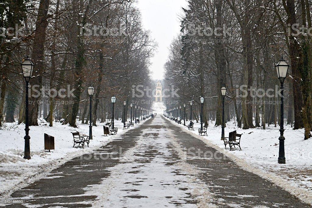 Maksimir park, Zagreb, Croatia stock photo