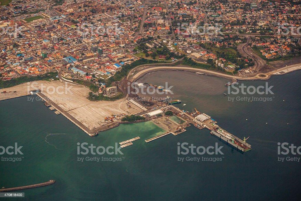 Malabo´s harbour stock photo
