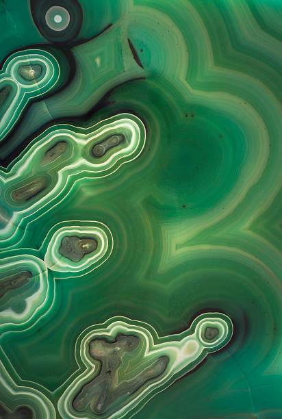 malachit abstrakter hintergrund - malachit stock-fotos und bilder