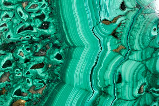 Malachite cut Green gem stone pattern malachite stock pictures, royalty-free photos & images