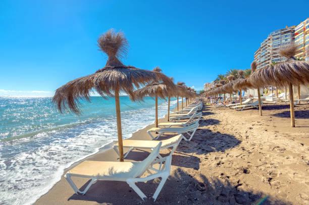 Malaga beach, Andalusia, Spain - foto de stock