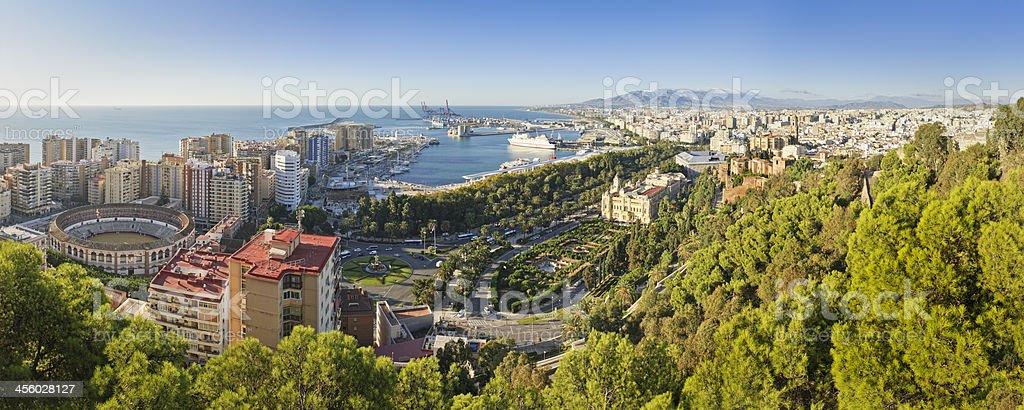 Malaga city, Spain stock photo