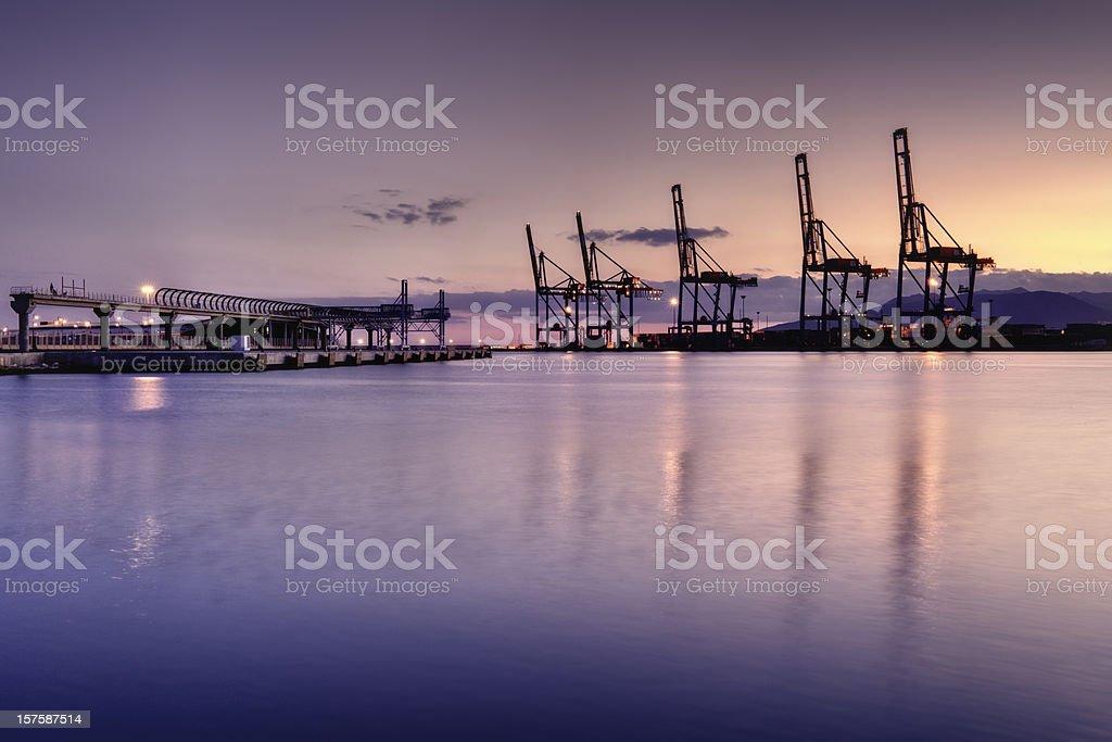Malaga Harbor royalty-free stock photo