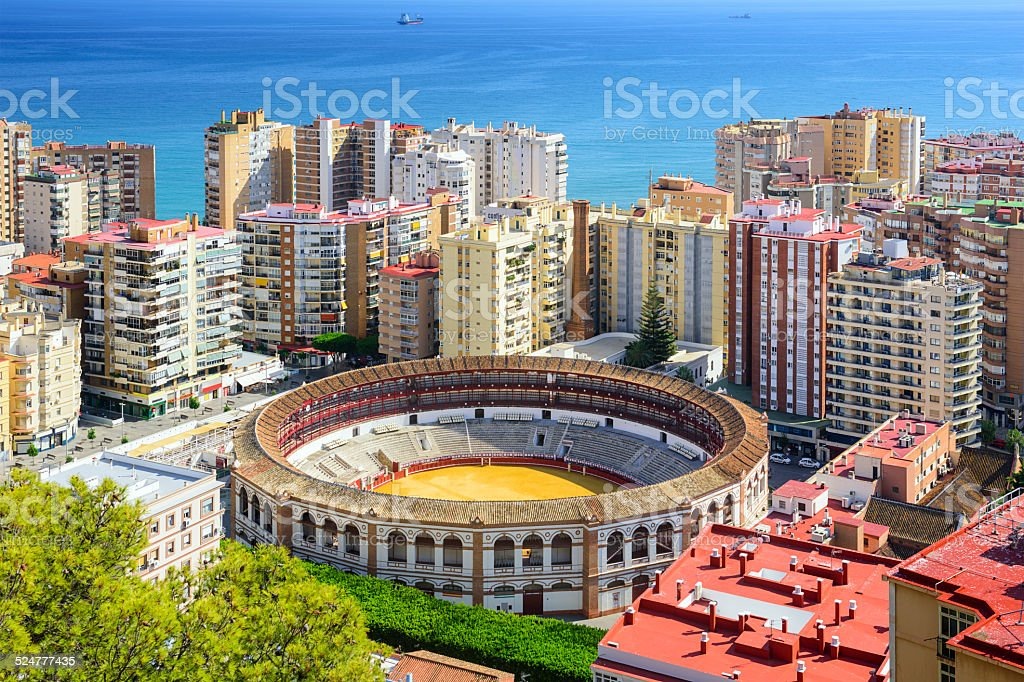 Malaga, Spain Cityscape stock photo