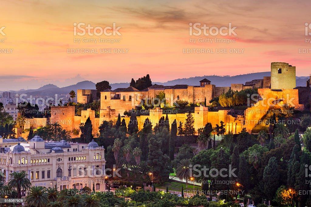 Málaga, España castillo de moro - foto de stock