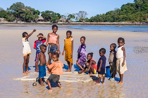 istock Malagasy children on the beach 471523783