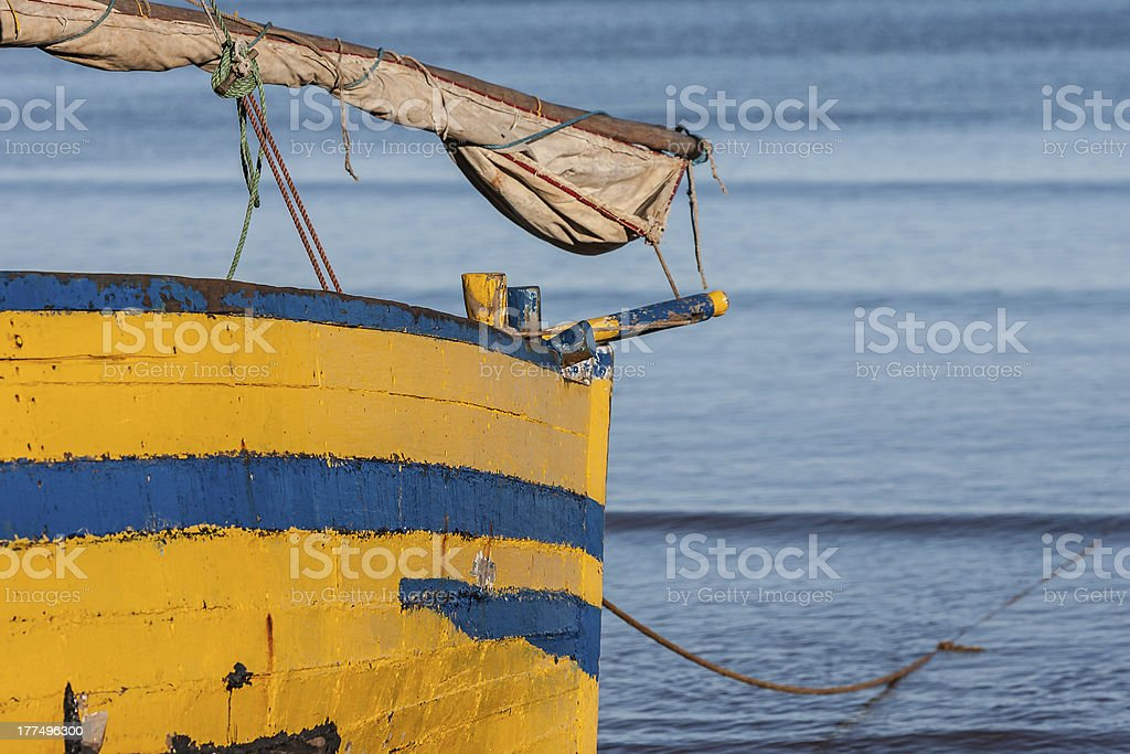 Malagasy dhow royalty-free stock photo