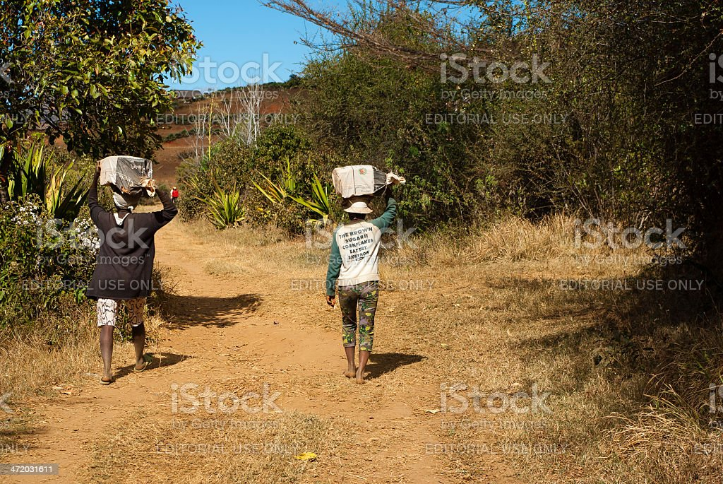 Malagasy women stock photo