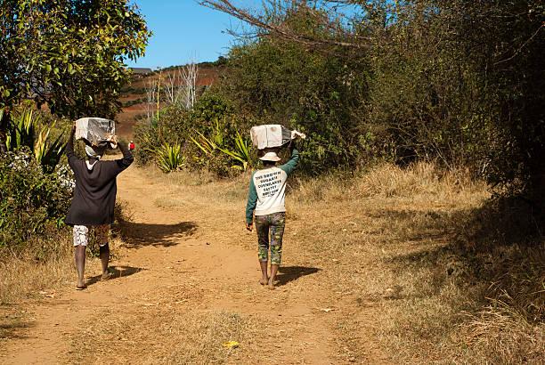 Malagasy women stock photo