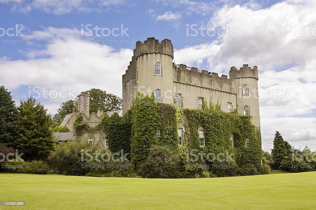 Malahide medieval Castle in Dublin stock photo