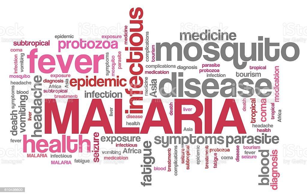 Malaria words stock photo