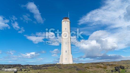 istock Malarrif Lighthouse on the Snaefelssnes Peninsula in Iceland. 1184890758