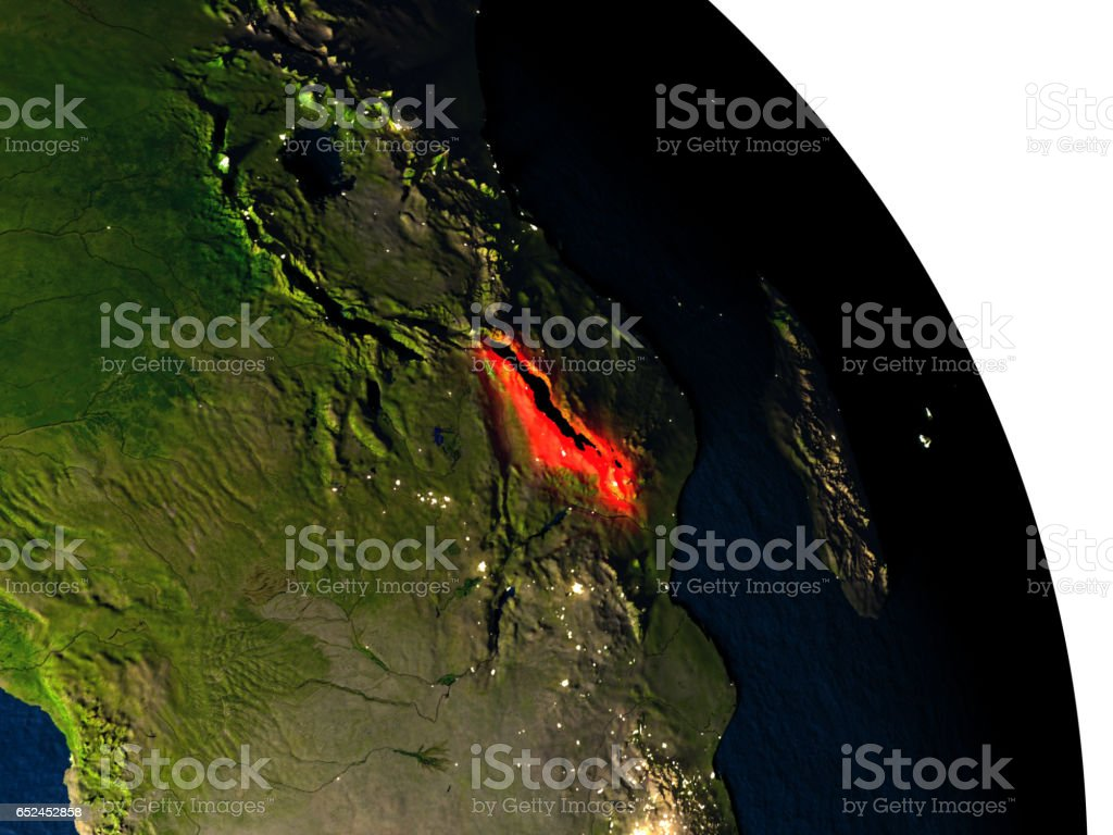 Malawi from space stock photo
