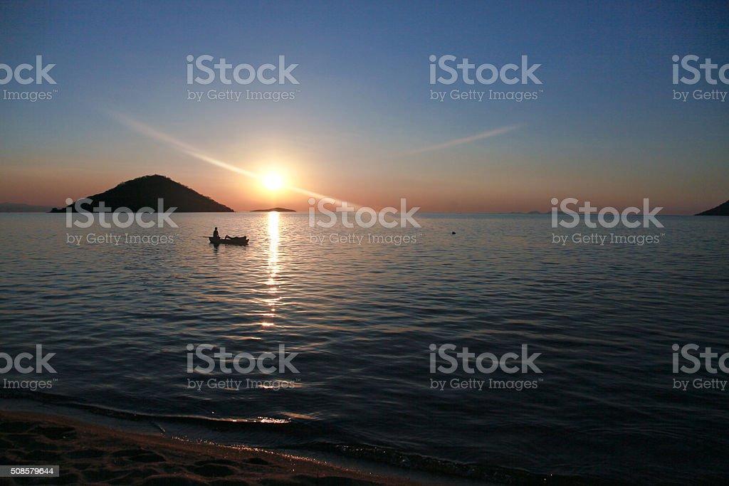 Malawi Lake Malawi stock photo