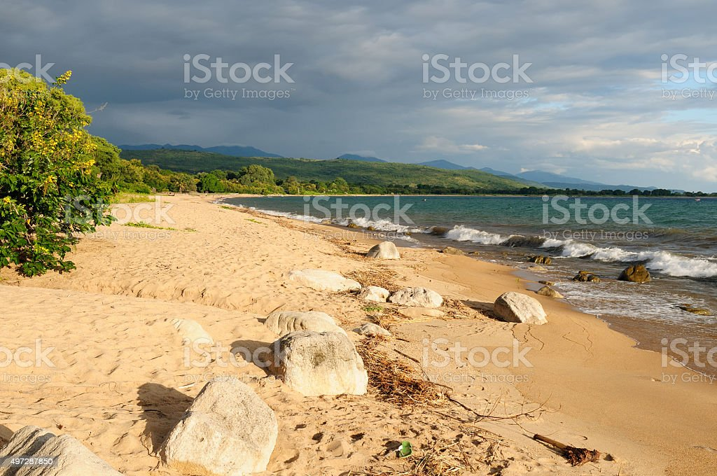 Malawi lake stock photo