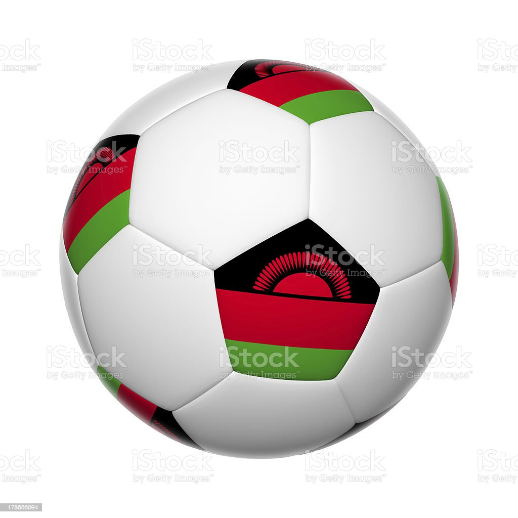 Malawi soccer ball stock photo