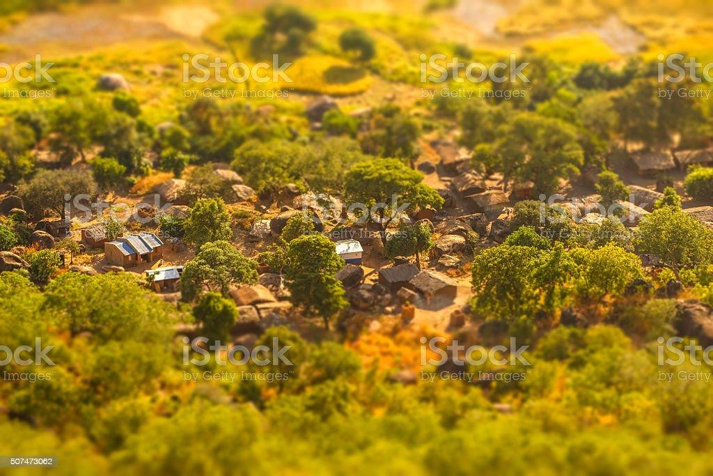 Malawi village stock photo