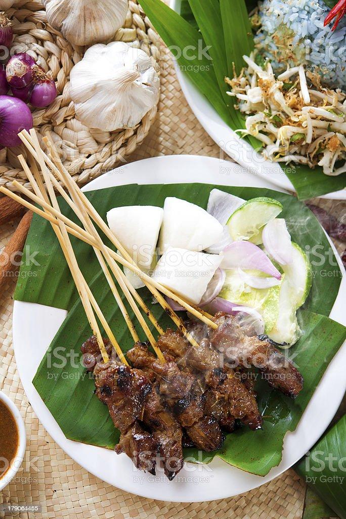 Malay dish satay stock photo
