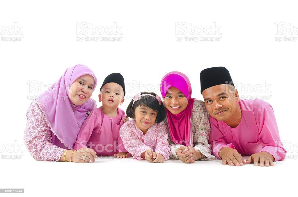 malay family stock photo