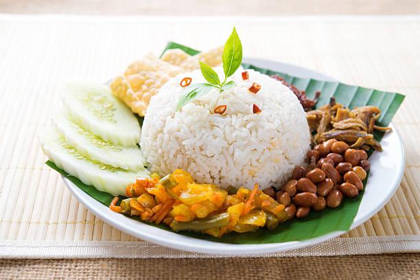 malajska żywności nasi lemak - pandan składnik zdjęcia i obrazy z banku zdjęć