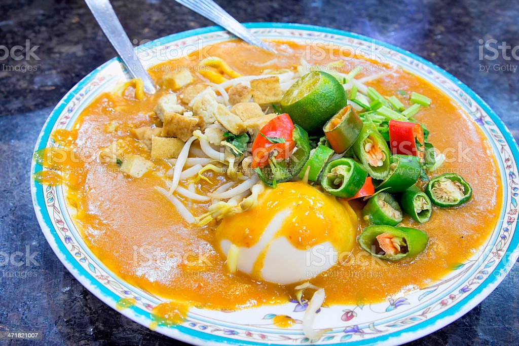 Malay Mee Rebus Dish royalty-free stock photo