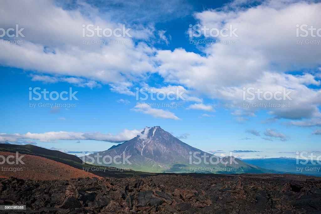 Malaya Udina Volcano near Tolbachik Volcano royaltyfri bildbanksbilder