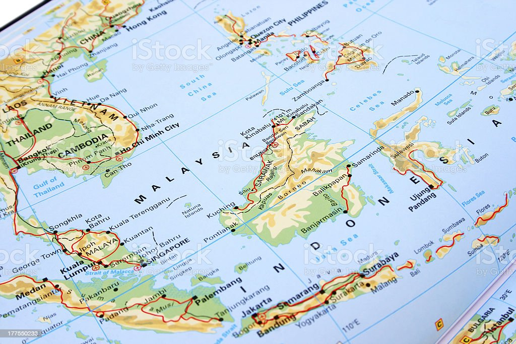 Malaysia and indonesia stock photo more pictures of asia istock asia globe navigational equipment indonesia malaysia map gumiabroncs Gallery