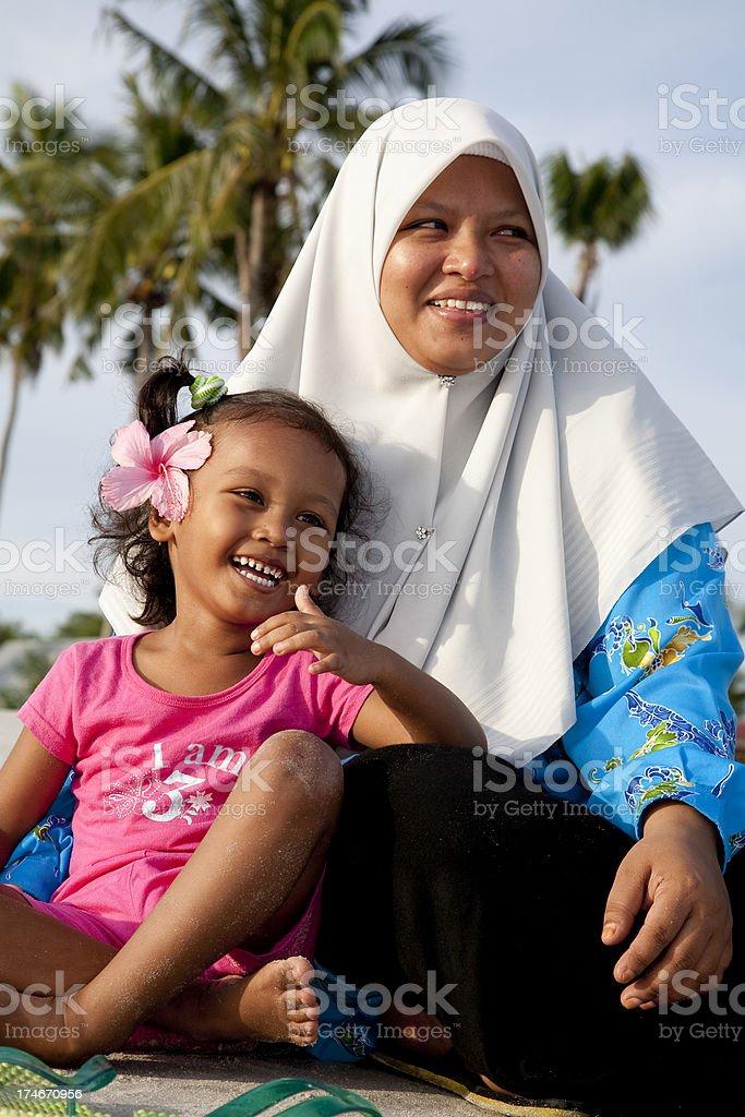 Malaysia, at the beach. stock photo