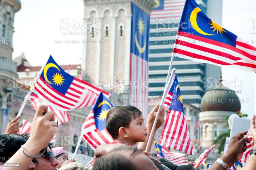 Comemorações do dia de Malaysia - foto de acervo