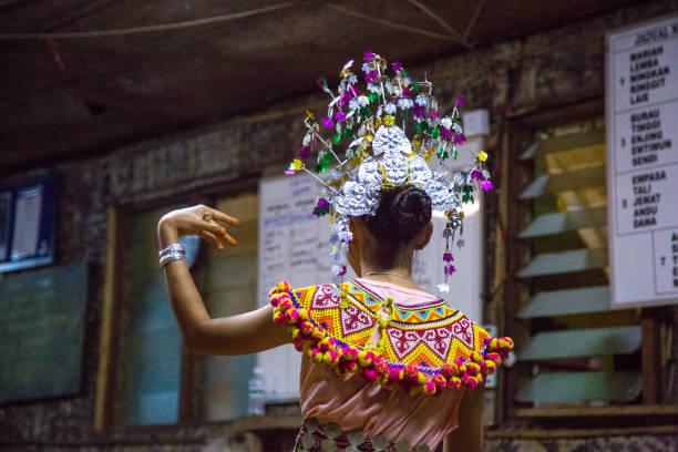 Malaysia: Iban Traditional Dance stock photo