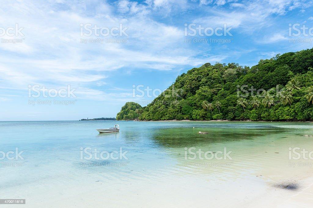 Malásia Ilha cenário - foto de acervo