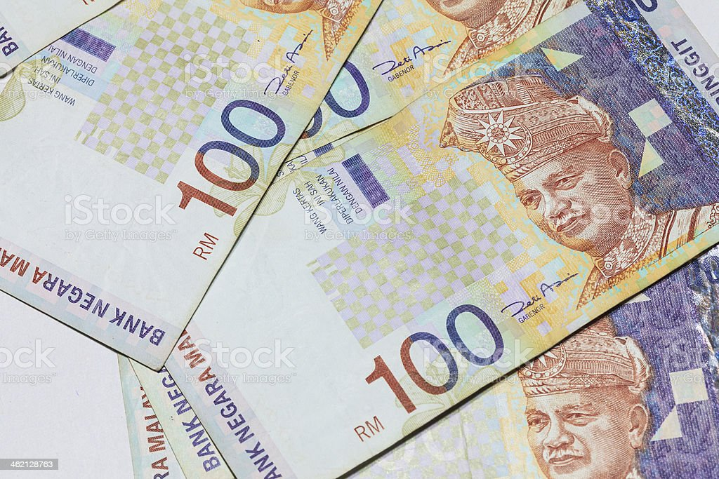 Malaysia Ringgit Note stock photo